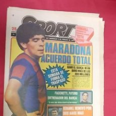 Coleccionismo deportivo: SPORT Nº 437. 4 FEBRERO 1981. MARADONA ACUERDO TOTAL. Lote 116704043