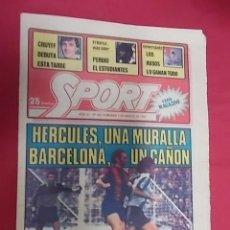Coleccionismo deportivo: SPORT Nº 462. 1 MARZO 1981. HERCULES, UMA MURALLA. BARCELONA UN CAÑON.. Lote 116704739