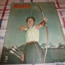Coleccionismo deportivo: MARCA(1-5-51)SEVILLA 1 BARÇA 2,R.MADRID 3 VALENCIA 2,OVIEDO 2 NASTIC 2,ESPAÑA 2 STADE REIMS 1. Lote 116711435