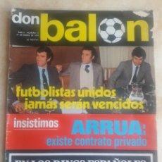 Coleccionismo deportivo: DON BALON N° 17. F.C. BARCELONA. CRUYFF. SOTIL. Lote 116745846