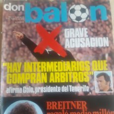 Coleccionismo deportivo: DON BALON N° 18. KUBALA. DIARTE. CRUYFF. Lote 116746454