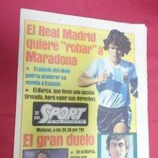 Coleccionismo deportivo: SPORT Nº 691. 23 OCTUBRE 1981. EL REAL MADRID TRAS MARADONA. QUINI, FIJO EN LA SELECCION. Lote 116763091