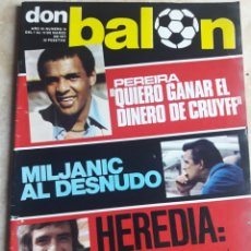 Coleccionismo deportivo: DON BALON N° 74. PEREIRA. MILJANIC. HEREDIA. Lote 116770084