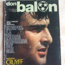 Coleccionismo deportivo: DON BALON N° 105. KEMPES. CRUYFF. Lote 116783512