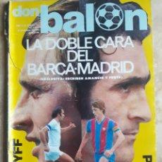 Coleccionismo deportivo: DON BALON N° 112. BARÇA-R. MADRID. CRUYFF-PIRRI. Lote 116786626