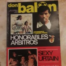Coleccionismo deportivo: DON BALON N° 123 + PÓSTER KEMPES. URTAIN. Lote 116788766