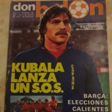 Coleccionismo deportivo: DON BALON N° 134 + PÓSTER SPORTING DE GIJÓN. KUBALA. BARÇA. Lote 116791427