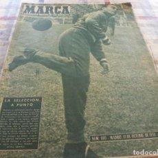 Coleccionismo deportivo: MARCA(13-10-59) DI STEFANO Y DIDÍ,SELECCIÓN ESPAÑOLA,R.MADRID-ATH.BILBAO,GARAY.. Lote 116808371