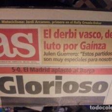 Coleccionismo deportivo: AS 8790 - REAL MADRID 5 BARÇA 0 - ZAMORANO LAUDRUP LUIS ENRIQUE CRUYFF VALDANO - COMO NUEVO. Lote 116824775