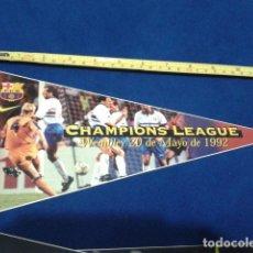 Coleccionismo deportivo: BANDERIN ADHESIVO F.C. BARCELONA 1998 EL SPORT ( CHAMPIONS LEAGUE ) WEMBLEY 20 DE MAYO DE 1992. Lote 116874839