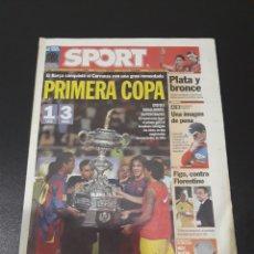Coleccionismo deportivo: SPORT. N° 9.281. 7/08/2005. FINAL CARRANZA. CÁDIZ,1 - BARCELONA,3.. Lote 117122786