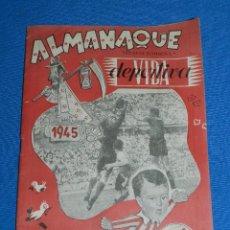Coleccionismo deportivo: ALMANAQUE VIDA DEPORTIVA 1945 - 1946 , ILUSTRADO , 32 PAG , POCAS SEÑALES DE USO. Lote 117189135
