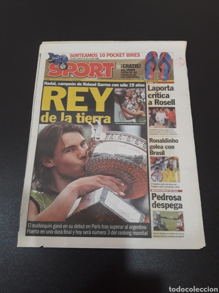 SPORT. N° 9.219. 6/06/2005. NADAL, CAMPEÓN DE RONALD GARROS CON SÓLO 19 AÑOS. (Coleccionismo Deportivo - Revistas y Periódicos - Sport)