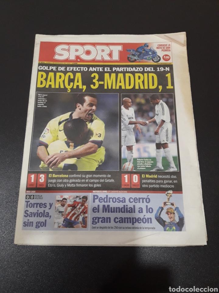 SPORT. N° 9.373. GOLPE DE EFECTO ANTE EL PARTIDAZO DEL 19-N. BARÇA,3 - MADRID,1. (Coleccionismo Deportivo - Revistas y Periódicos - Sport)