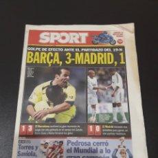Coleccionismo deportivo: SPORT. N° 9.373. GOLPE DE EFECTO ANTE EL PARTIDAZO DEL 19-N. BARÇA,3 - MADRID,1.. Lote 117602688