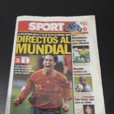 Coleccionismo deportivo: SPORT. N° 9.379. 13/11/2005. LA SELECCIÓN GOLEA Y YA SE VE EN ALEMANIA 2006. DIRECTOS AL MUNDIAL.. Lote 117637456