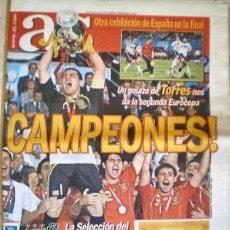 Coleccionismo deportivo: DIARIO DEPORTIVO AS, Nº 13623 DE 30 DE JUNIO 2008, ESPAÑA CAMPEONA DE EUROPA EUROCOPA FUTBOL. Lote 117644027