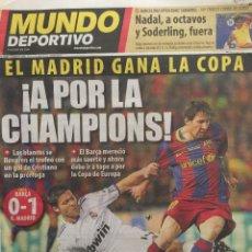Coleccionismo deportivo: MUNDO DEPORTIVO.21/4/2011.FINAL COPA.BARCELONA,0-R.MADRID,1. Lote 117732859