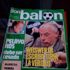 Coleccionismo deportivo: REVISTA DON BALON NUMERO 27- PORTADA EN MAL ESTADO. Lote 117923843