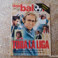 Coleccionismo deportivo: DON BALÓN N°192. EXTRA LIGA 78.79. PÓSTER R. MADRID CAMPEON. Lote 117934903