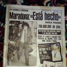 Coleccionismo deportivo: DIARIO GRAFICO DEPORTIVO AS DEL 82 MARADONA. Lote 118172195