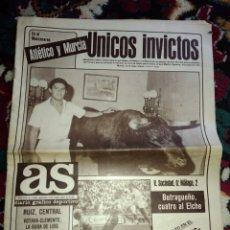 Coleccionismo deportivo: DIARIO GRAFICO DEPORTIVO AS DEL 1983 ATLETICO MURCIA. Lote 118172519