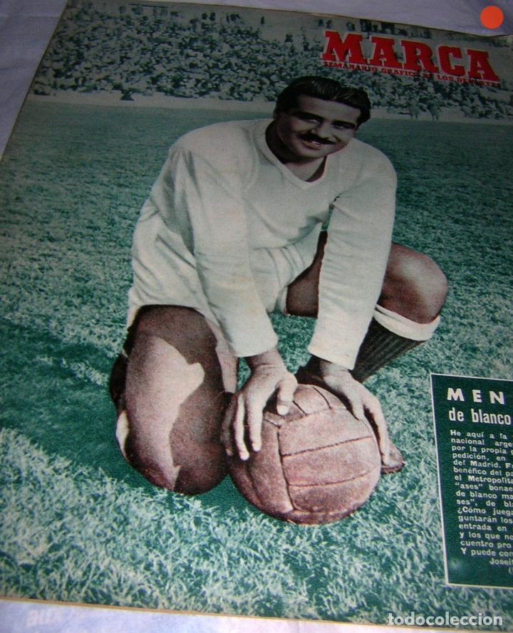 MARCA, SEMANARIO GRÁFICO DE LOS DEPORTES, Nº 524 DE 1952, MÉNDEZ DEL R. MADRID (Coleccionismo Deportivo - Revistas y Periódicos - Marca)