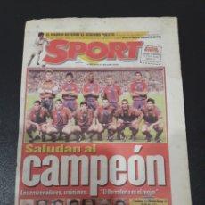 Coleccionismo deportivo: SPORT. N° 6.628. 10/04/1998. SALUDAN AL CAMPEON.. Lote 118231358
