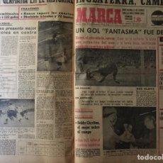 Coleccionismo deportivo: MARCA. MUNDIAL DE INGLATERRA 1966. TODOS LOS PERIÓDICOS, FINAL, SEMIS...IMPOSIBLE DE CONSEGUIR. Lote 118363259