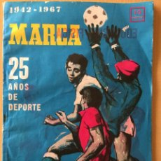 Coleccionismo deportivo: MARCA. 1942-1967. FINAL DE COPA, COPA EUROPA, MUNDIAL. BODAS DE PLATA. Lote 118457739
