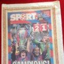 Coleccionismo deportivo: PERIODICO SPORT FINAL CHAMPIONS COPA EUROPA 2006 BARCELONA ARSENAL. Lote 118546131