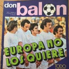 Coleccionismo deportivo: REVISTA DON BALON FINAL COPA EUROPA 1975 1976 BAYERN MUNCHEN SAINT ETIENNE GLASGOW. Lote 118546635