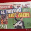 Coleccionismo deportivo: PERIODICO SPORT FINAL CHAMPIONS 2009 BARCELONA MANCHESTER UNITED. Lote 118546815
