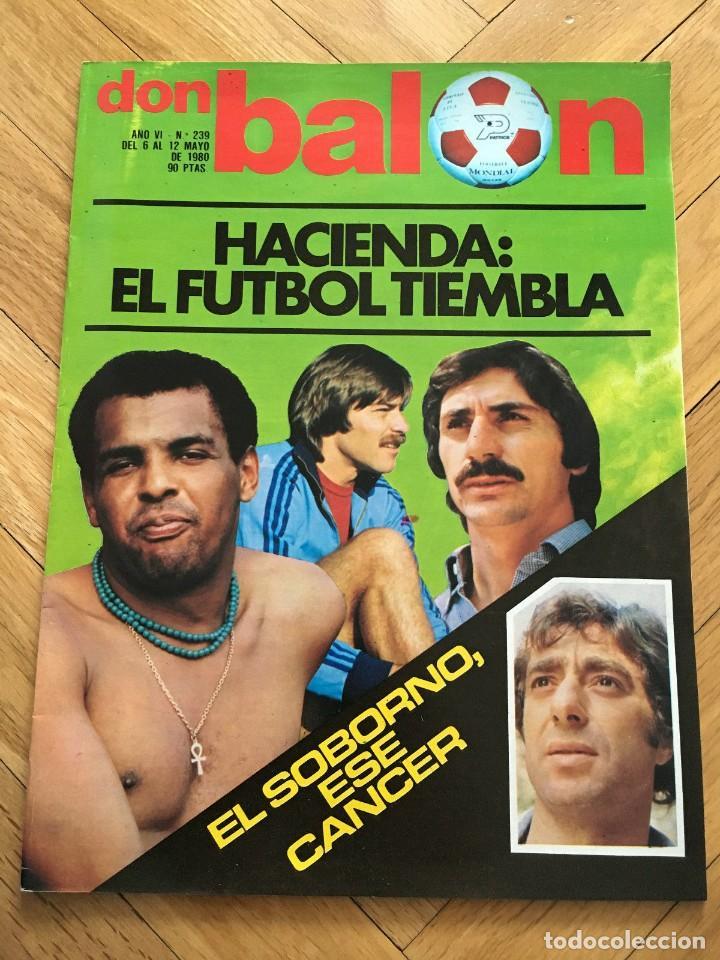 REVISTA DON BALON FINAL RECOPA VALENCIA ARSENAL 1980 (Coleccionismo Deportivo - Revistas y Periódicos - Don Balón)