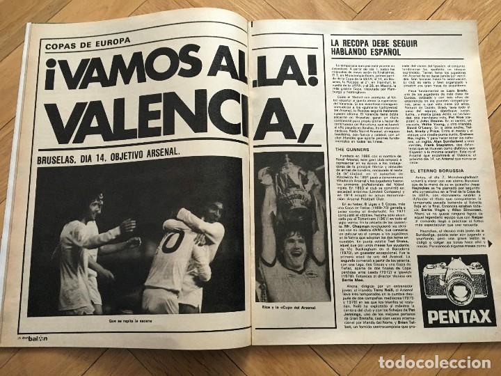 Coleccionismo deportivo: REVISTA DON BALON FINAL RECOPA VALENCIA ARSENAL 1980 - Foto 2 - 118549191