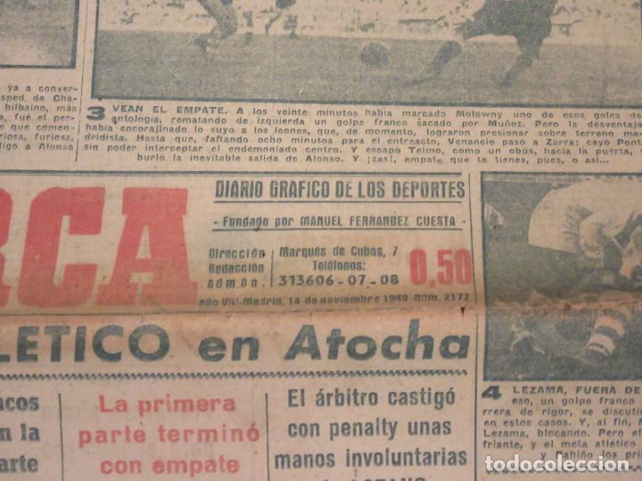 MARCA. DIARIO GRÁFICO DE LOS DEPORTES. NÚMERO 2172. 14 DE NOVIEMBRE DE 1949. (Coleccionismo Deportivo - Revistas y Periódicos - Marca)