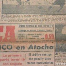 Coleccionismo deportivo: MARCA. DIARIO GRÁFICO DE LOS DEPORTES. NÚMERO 2172. 14 DE NOVIEMBRE DE 1949.. Lote 118582979