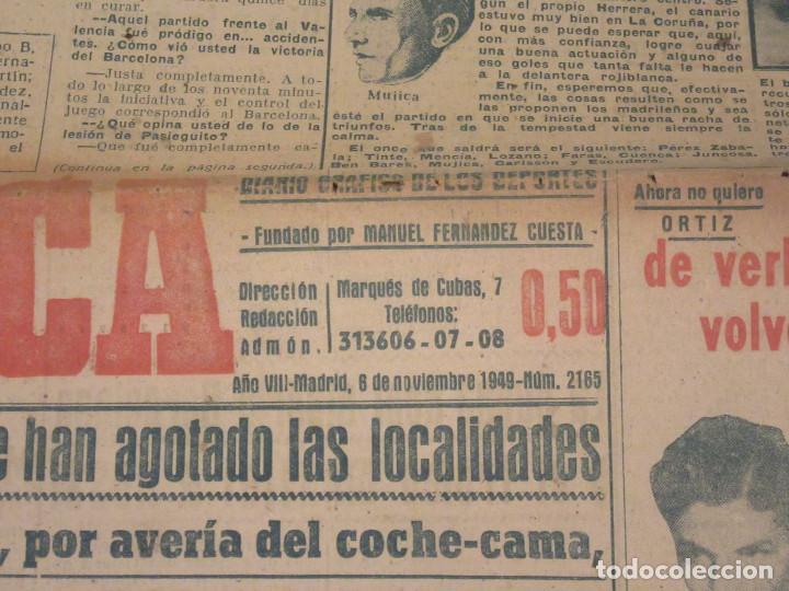 Coleccionismo deportivo: Marca. Diario Gráfico de los Deportes. Número 2165. 6 de noviembre de 1949. - Foto 2 - 118583187