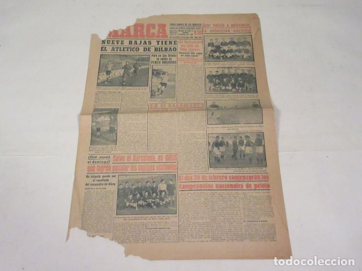 MARCA. DIARIO GRÁFICO DE LOS DEPORTES. NÚMERO 1924. 28 DE ENERO DE 1949. (Coleccionismo Deportivo - Revistas y Periódicos - Marca)