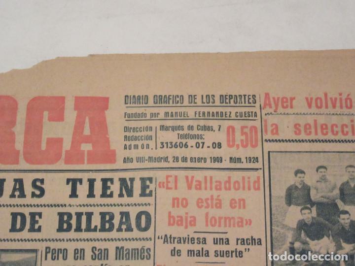 Coleccionismo deportivo: Marca. Diario Gráfico de los Deportes. Número 1924. 28 de enero de 1949. - Foto 2 - 118583367