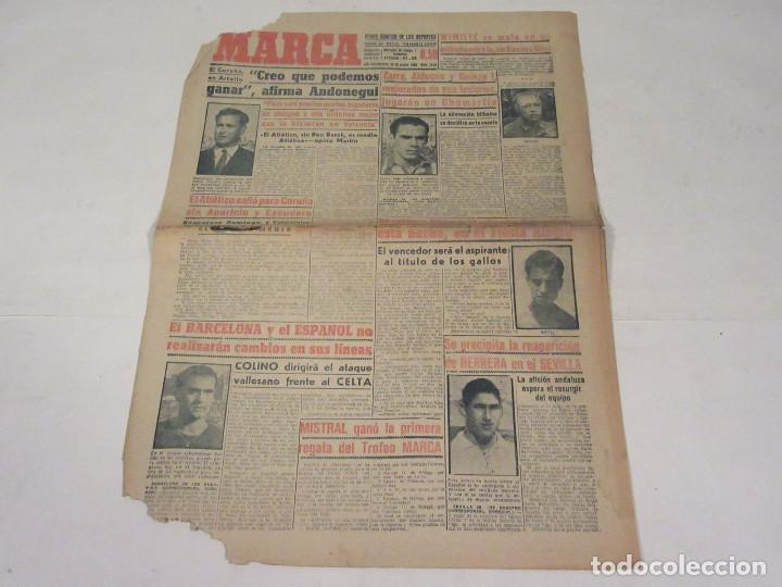 MARCA. DIARIO GRÁFICO DE LOS DEPORTES. NÚMERO 1925. 29 DE ENERO DE 1949. (Coleccionismo Deportivo - Revistas y Periódicos - Marca)