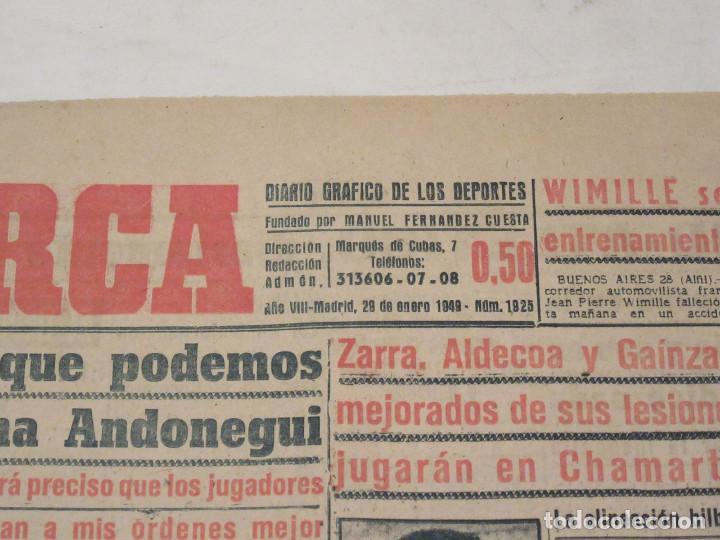 Coleccionismo deportivo: Marca. Diario Gráfico de los Deportes. Número 1925. 29 de enero de 1949. - Foto 2 - 118584235