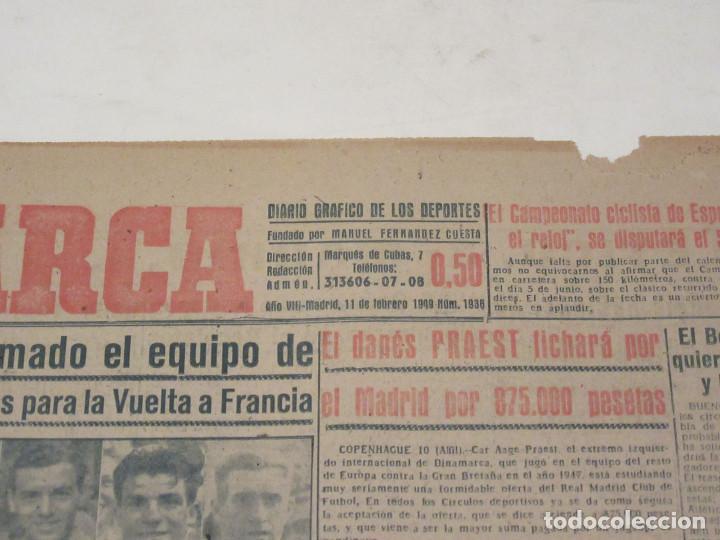 Coleccionismo deportivo: Marca. Diario Gráfico de los Deportes. Número 1936. 11 de febrero de 1949. - Foto 2 - 118584683