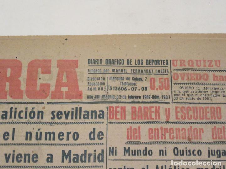 Coleccionismo deportivo: Marca. Diario Gráfico de los Deportes. Número 1937. 12 de febrero de 1949. - Foto 2 - 118585359