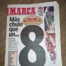 Coleccionismo deportivo: DIARIO MARCA 25 MAYO 2000 REAL MADRID 8ª COPA COPA EUROPA FINAL CHAMPIONS PARIS. Lote 118586523