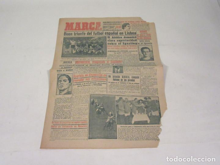 MARCA. DIARIO GRÁFICO DE LOS DEPORTES. NÚMERO 2138. 6 DE OCTUBRE DE 1949. INCOMPLETO. (Coleccionismo Deportivo - Revistas y Periódicos - Marca)