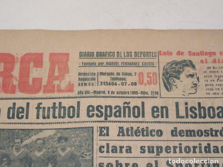 Coleccionismo deportivo: Marca. Diario Gráfico de los Deportes. Número 2138. 6 de octubre de 1949. Incompleto. - Foto 2 - 118586831