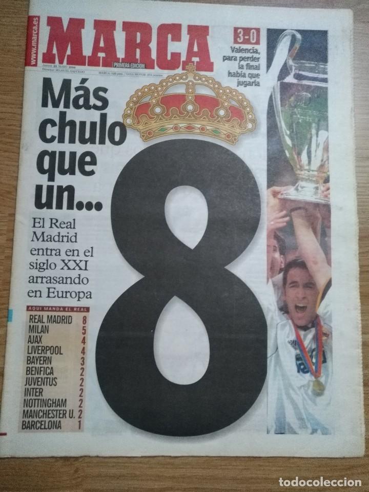 DIARIO MARCA 25 MAYO 2000 REAL MADRID 8ª COPA COPA EUROPA FINAL CHAMPIONS PARIS (Coleccionismo Deportivo - Revistas y Periódicos - Marca)
