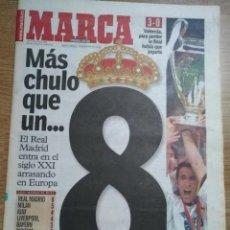 Coleccionismo deportivo: DIARIO MARCA 25 MAYO 2000 REAL MADRID 8ª COPA COPA EUROPA FINAL CHAMPIONS PARIS. Lote 118587047