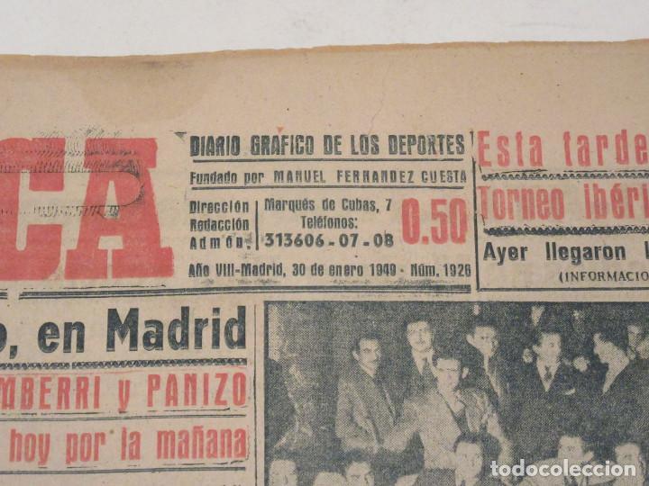 Coleccionismo deportivo: Marca. Diario Gráfico de los Deportes. Número 1926. 30 de enro de 1949. - Foto 2 - 118587471
